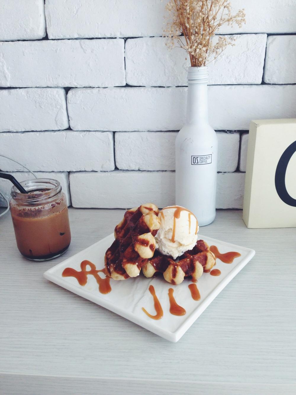 Salted caramel belgian Liege waffles– $7.50