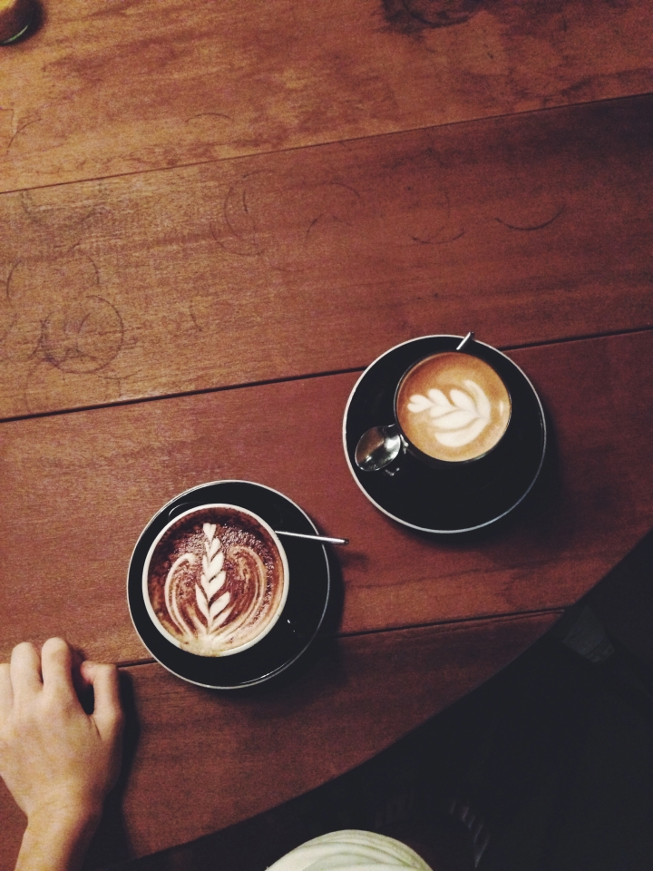 Cappuccino and latte–$4.20